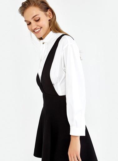 Kloş Etekli Kalın Asklı Triko Elbise-Ipekyol